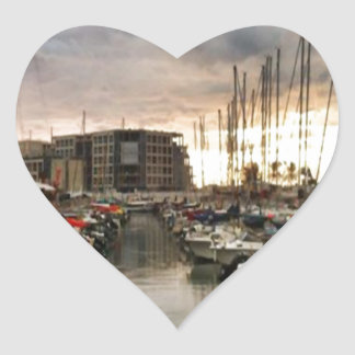 Sailing- multiple products/ Landscape at the Marin Heart Sticker