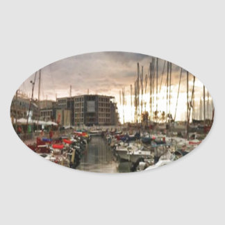 Sailing- multiple products/ Landscape at the Marin Oval Sticker