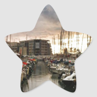 Sailing- multiple products/ Landscape at the Marin Star Sticker