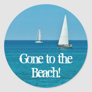 Sailing . . . New Address Classic Round Sticker