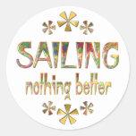 SAILING Nothing Better Round Sticker
