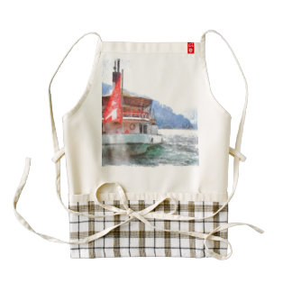 Sailing of the cruise ship zazzle HEART apron