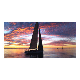 Sailing off into the sunset in Australia Card