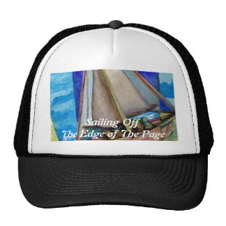 """""""Sailing Off The Edge of The Page""""  CricketDiane Trucker Hats"""