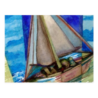 """Sailing Off The Edge of The Page""  CricketDiane Post Cards"