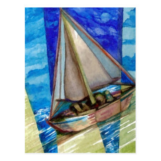"""""""Sailing Off The Edge of The Page""""  CricketDiane Postcard"""