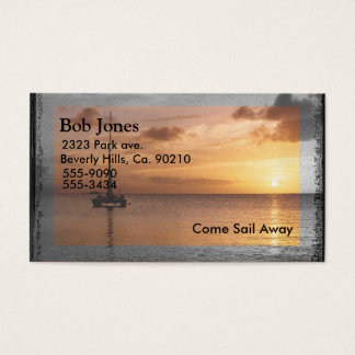 Sailing On A Sunlit Ocean Business Card