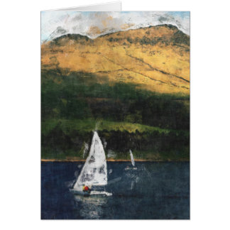 Sailing on Dovestone Reservoir Card