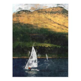 Sailing on Dovestone Reservoir Postcard