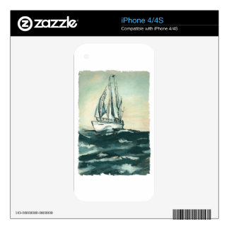 Sailing on High Seas iPhone 4S Decal