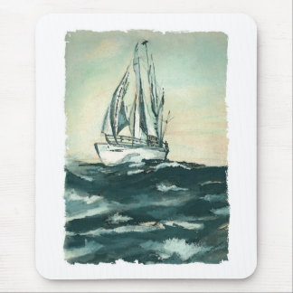 Sailing on High Seas Mouse Pad
