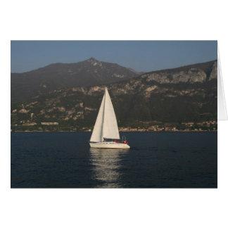 Sailing on Lake Como Greeting Card