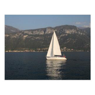 Sailing on Lake Como Postcard