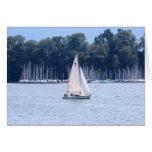 Sailing on Lake Luzern Stationery Note Card