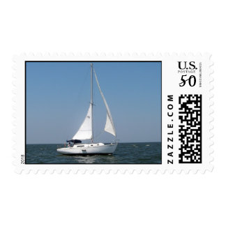 Sailing on Lake Pontchartrain Postage Stamp