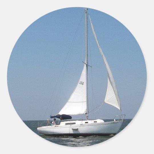 Sailing on Lake Pontchartrain Stickers