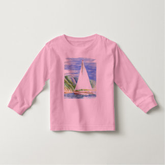 Sailing on the Bay - Watercolor Pencil Toddler T-shirt