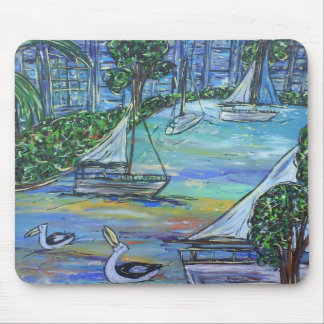 Sailing on the Brisbane River Mouse Pad