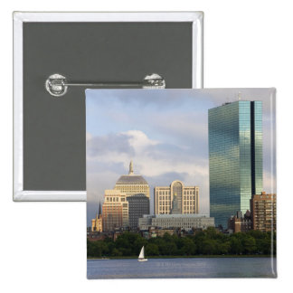 Sailing on the Charles River in Boston, Pinback Button