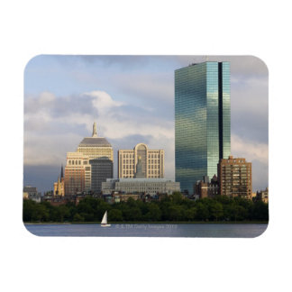 Sailing on the Charles River in Boston, Rectangular Photo Magnet