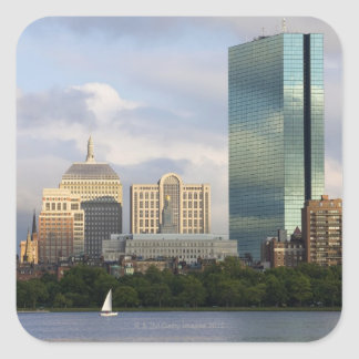 Sailing on the Charles River in Boston, Square Sticker