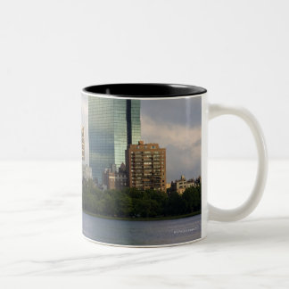 Sailing on the Charles River in Boston, Two-Tone Coffee Mug
