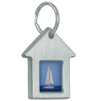 Sailing on the Ocean Blue Pet Name Tag