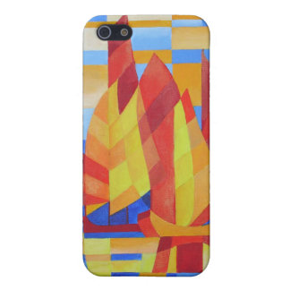 Sailing on the Seven Seas so Blue Cubist Abstract Case For iPhone SE/5/5s
