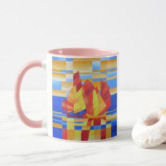 Sailing on the Seven Seas so Blue Cubist Abstract Mug