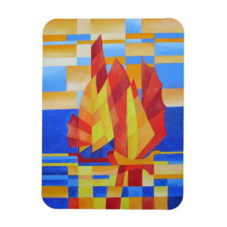 Sailing on the Seven Seas so Blue Rectangle Magnet