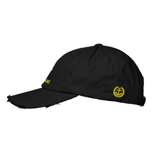 Sailing or boat crew with anchor motif embroidered baseball cap