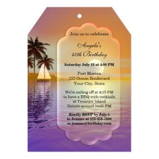 Sailing or Nautical Birthday Party Invitation
