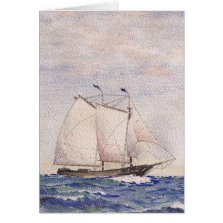Sailing out of Nantucket Greeting Card