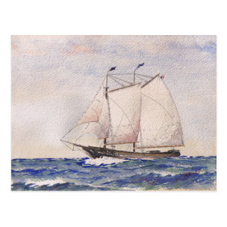 Sailing out of Nantucket Postcard