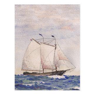 Sailing out of Nantucket Postcard