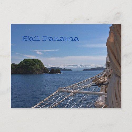 Sailing Panama Post Card postcard