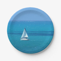 Sailing Paper Plate