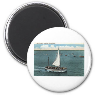 Sailing Party Wildwood by the Sea NJ Vintage 1934 2 Inch Round Magnet