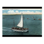 Sailing Party Wildwood by the Sea NJ Vintage 1934 Postcards