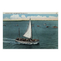 Sailing Party Wildwood by the Sea NJ Vintage 1934 Poster