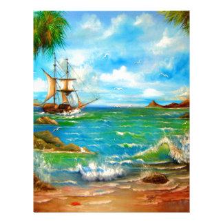 Sailing Pirate Ship Design Letterhead