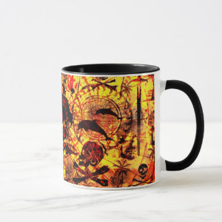 Sailing pirates background mug