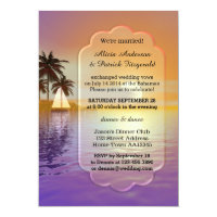 Sailing Post Wedding Reception Party Invitation