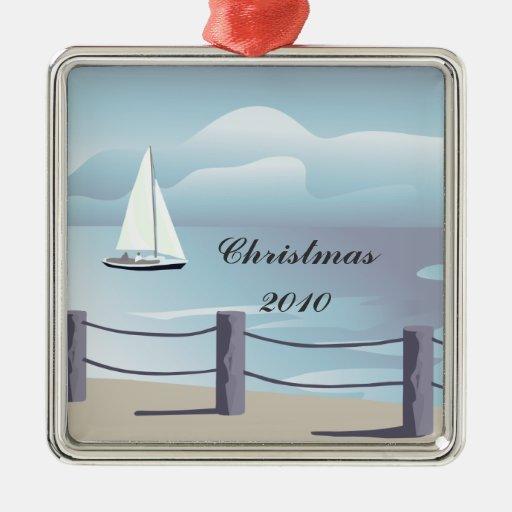 Sailing Premium Christmas Ornament