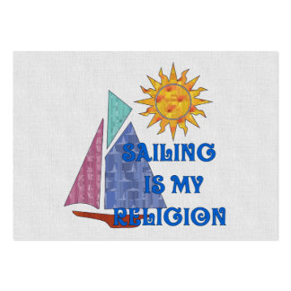 Sailing Religion Business Card Template