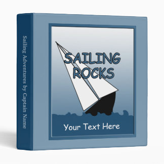 Sailing Rocks Boating Log Book Binder