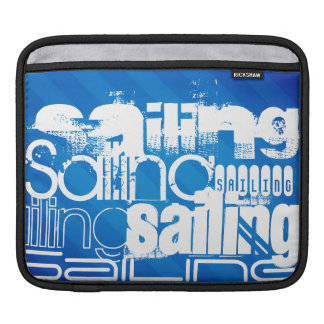 Sailing; Royal Blue Stripes Sleeves For iPads