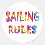 Sailing Rules Classic Round Sticker