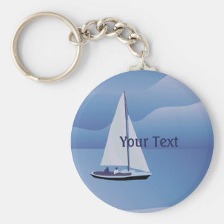 Sailing Sailboat Basic Keychain
