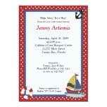 Sailing Sailboat Boat l Baby Shower 5x7 Announcements